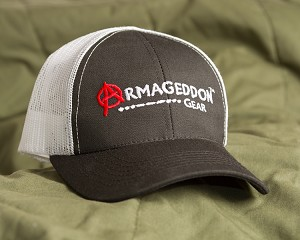 Armageddon Gear Logo Cap - Black with white mesh back